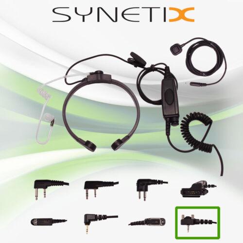 VERTEX garganta Mic /& Encubierto Auricular para EVX261 EVX531 EVX534 EVX539