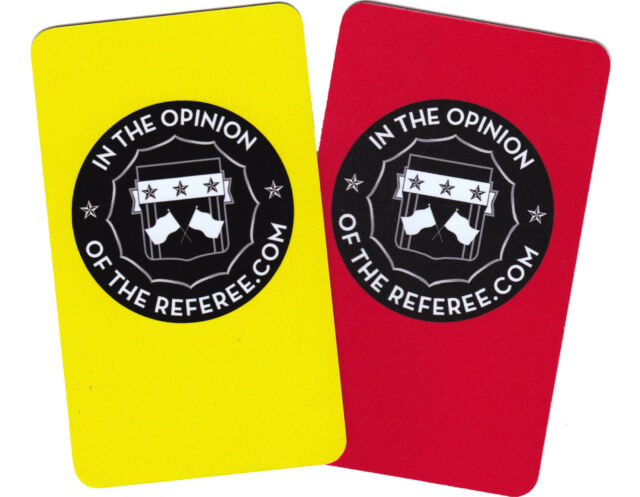 Premium Soccer Referee Disciplinary Card Set (Yellow and Red Cards)