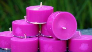 10pk-120hr-pk-HOT-PINK-LIME-Triple-Scent-ECO-SOY-TEA-LIGHT-CANDLES-Bright-Gifts