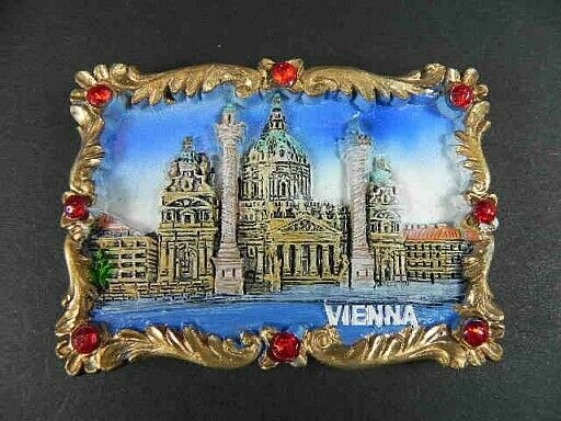 Magnet Vienna Karlskirche, Poly Souvenir Austria, New