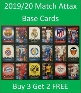 2019/20 Match Attax UEFA Soccer Cards - Spanish and German - Buy 3 Get 2 FREE