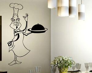 Wall stickers kitchen adesivi murali cucina adesivo cuoco for Stickers murali cucina