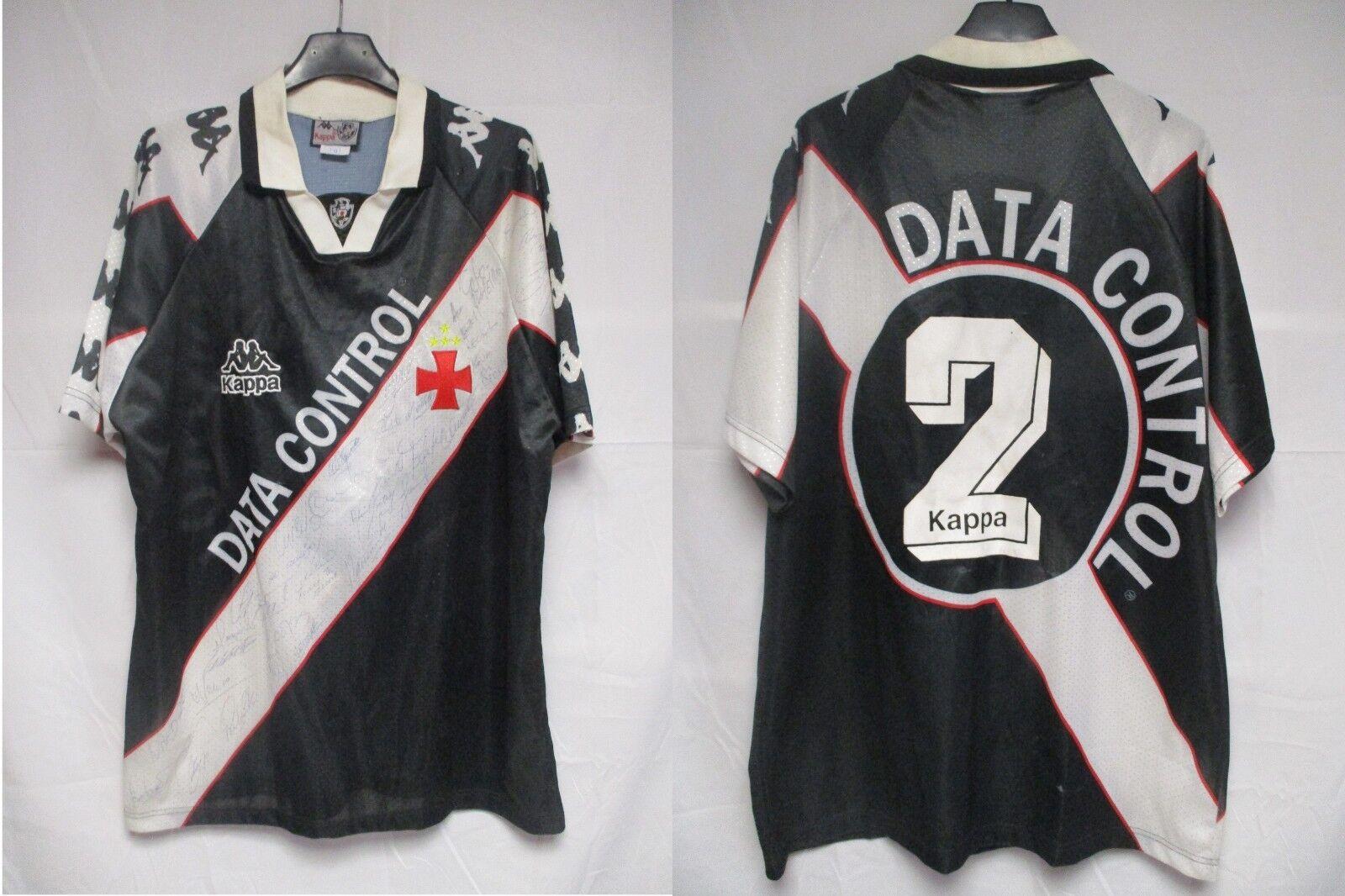 Maillot VASCO DE DA GAMA 1997 porté n°2 vintage jersey worn shirt issue signé L