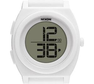 PRE-OWNED-80-Nixon-Women-039-s-Time-Teller-Digi-White-Sport-Classic-Watch-A417-100