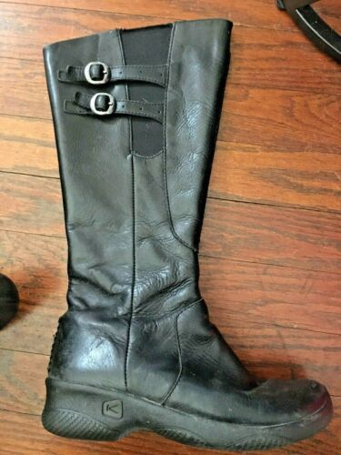 Keen Bern Baby Bern tall black leather boots with