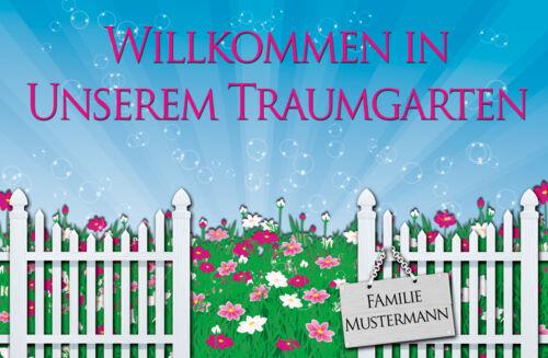 persönliche Fußmatte Traumgarten Blumen Geschenk für Blumenliebhaber Garten