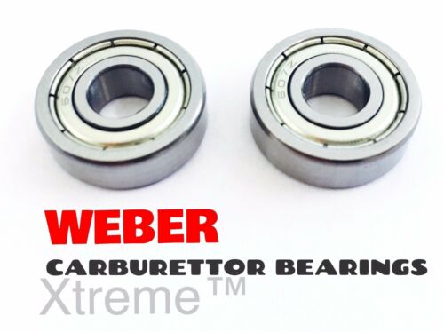 2 x WEBER CARBURETTOR SPINDLE BEARINGS DCOE//DCNF//IDF DELLORTO CARB DHLA//DRLA