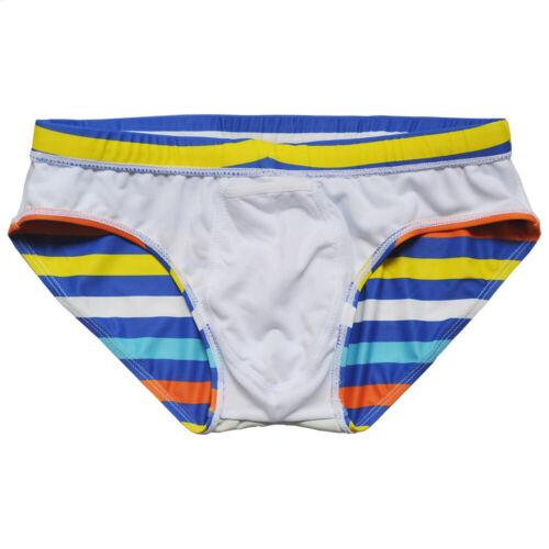 Été Hommes Natation Plage sous-Vêtement Taille Basse Élastique Bain Bikini Slips