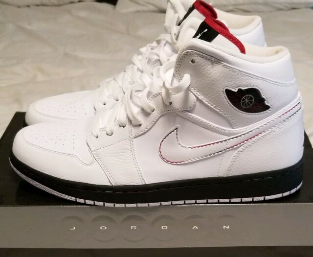premium selection f9688 9d5f8 Frequently bought together. Nike air Jordan Retro 1 White Black red Green  ...