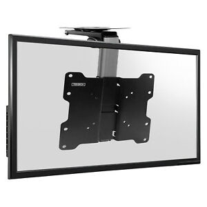 tv folding ceiling wall mount bracket tilt swivel flip down 17 37 loft roof 5055888412112 ebay. Black Bedroom Furniture Sets. Home Design Ideas