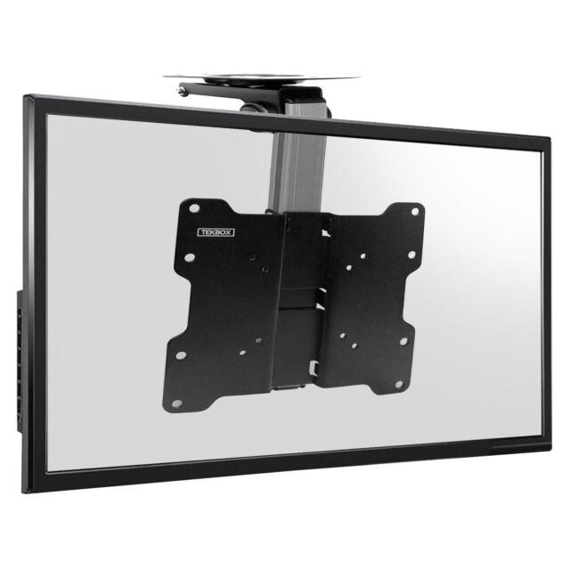 "TV Folding Ceiling Wall Mount Bracket Tilt Swivel Flip Down 17 - 37"" Loft Roof"
