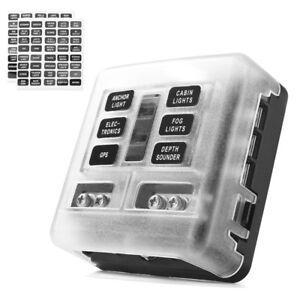 6-Way-Blade-Fuse-Box-Block-Holder-Standard-ATC-ATO-LED-Indicator-For-Car-Marine