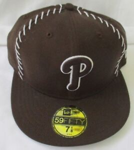 New Era 5950 59FIFTY PHILLY PHILADELPHIA PHILLIES ROYAL and WHITE Fitted Cap Hat
