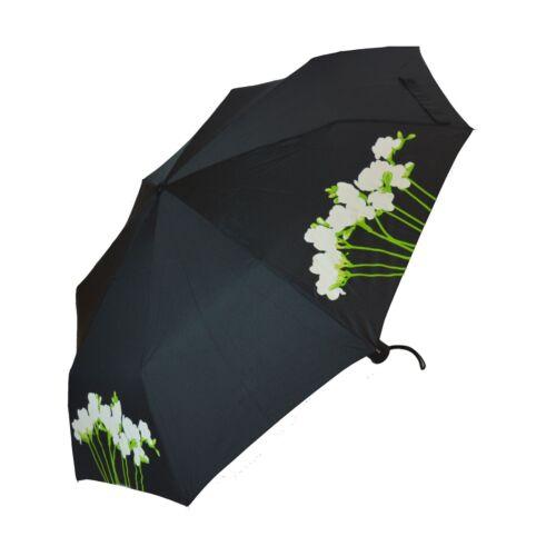 Femmes Jaune Freesia Couleur Changeante Pliable Parapluie Compact /& Manche Cadeau