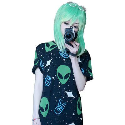 Kawaii Clothing Cute Ropa Harajuku Camiseta T-Shirt Alien Ufo Ovni Galaxy Space