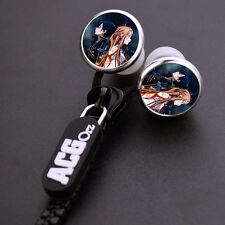 Anime Sword Art Online SAO Stereo Bass Zipper In-Ear Earphone Headset For MP3 PC