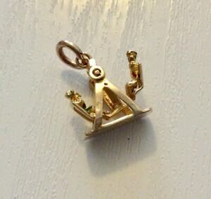 Good-Vintage-Full-Hallmarked-9CT-Gold-See-Saw-or-Swing-Boat-Charm