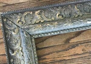 Antique Ornate Wood Carved Frame Victorian Gesso SHABBY Gilt Gold Baroque 11x14