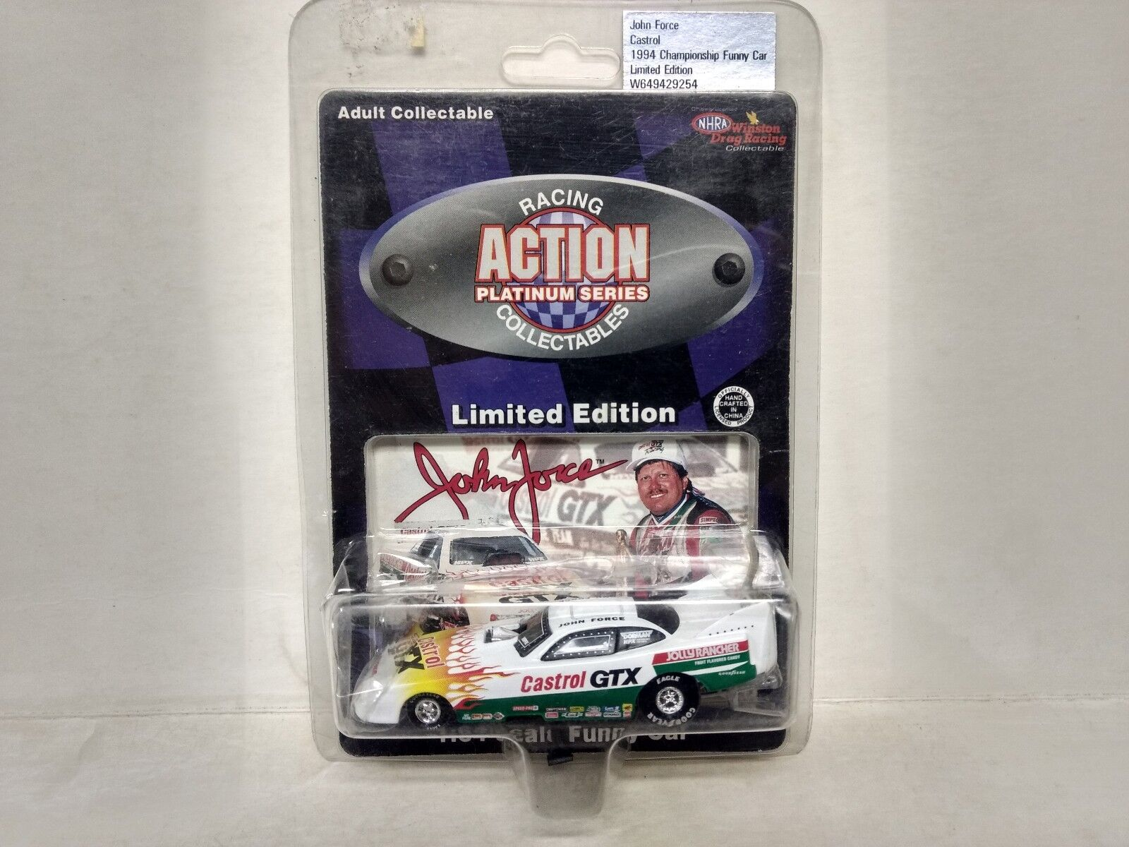 NHRA Winston Drag Racing John Force 1994 GTX 1 64 Scale Diecast            mb104