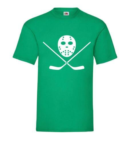 Hockey Sur Glace Masque et Batte T-shirt//pull//hoodie