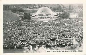 HOLLYWOOD CA – Hollywood Bowl Real Photo Postcard rppc