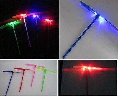 12 PCS Light-Up Dragonfly Flying LED Propeller Wacky Whirler Kids Hand Toy