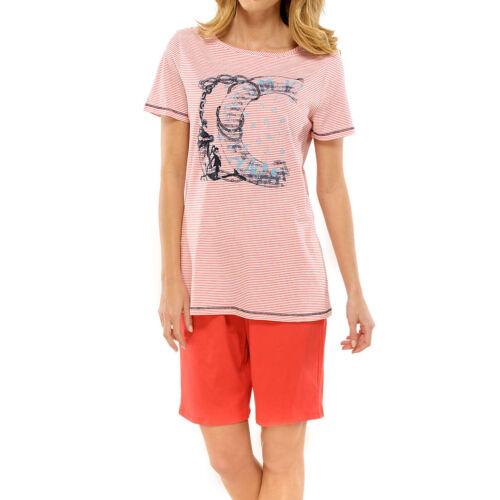 Schiesser Damen Schlafanzug Pyjama kurz rot exklusiv
