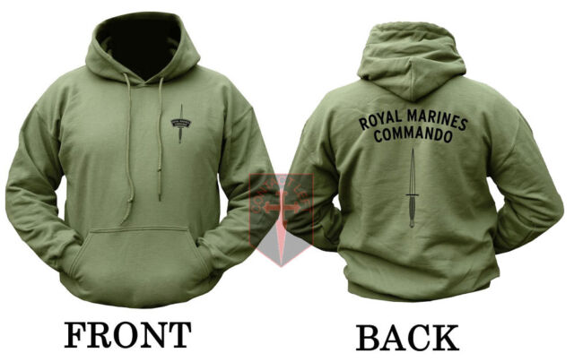 RM - ROYAL MARINES COMMANDO Olive Unisex HOODIE ( F&S DAGGER Design )