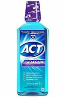 2 Pack - Act Total Care Anticavity Fluoride Mouthwash Icy Clean Mint 18 Oz Each on sale