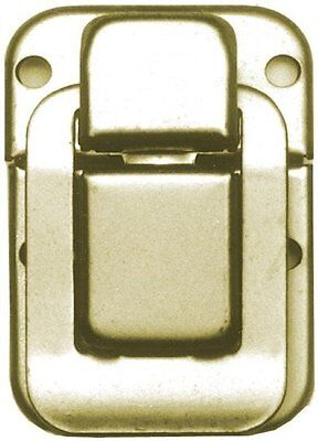 Nickel Plated Drawbolt antique chest trunk lock latch steamer vintage old case
