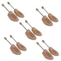 5 Paar Holz Schuhspanner Herrenschuhe Damenschuhe Gr. 36-48 In Echtholz