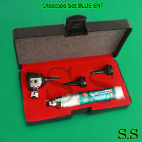 Otoscope Set Blue Ent Medical Diagnostic Instruments (batteries Not Included)