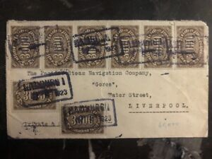 1923 Hamburg Germany Inflation Rate Cover To Liverpool England