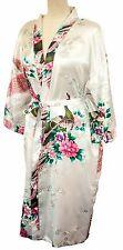 Kimono MANY COLOURS Peacock PREMIUM dressing gown Japanese robe Pearl White