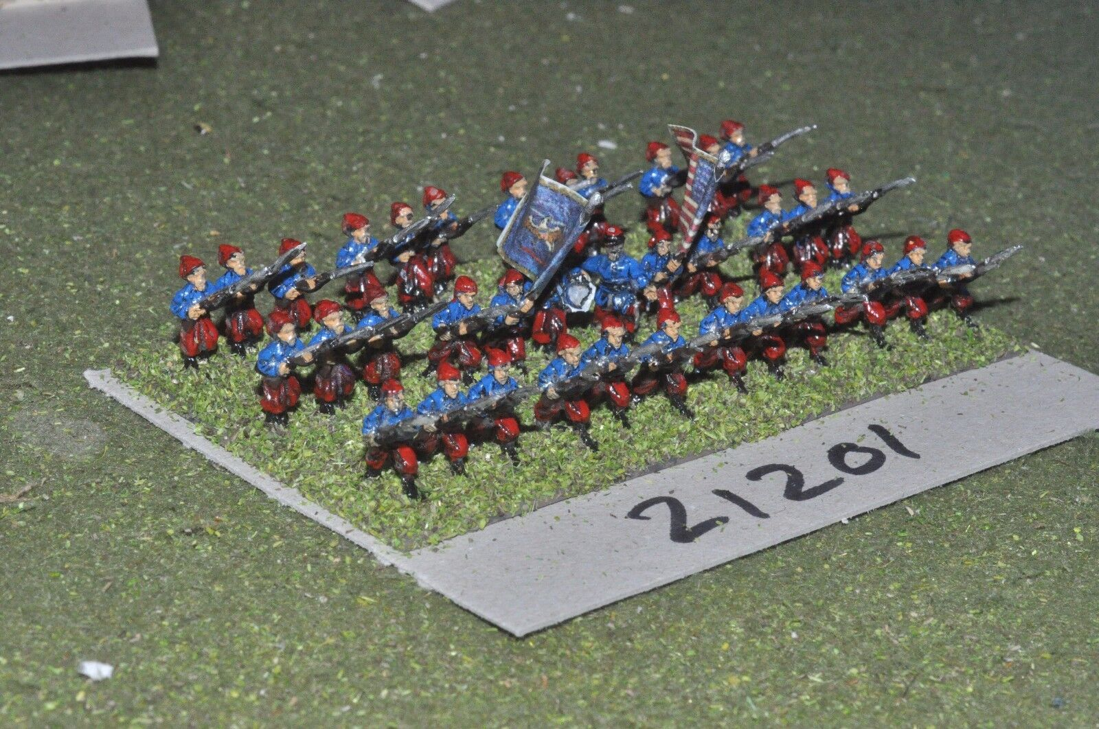 15mm ACW   union - american civil war small infantry 36 figures - inf (21201)