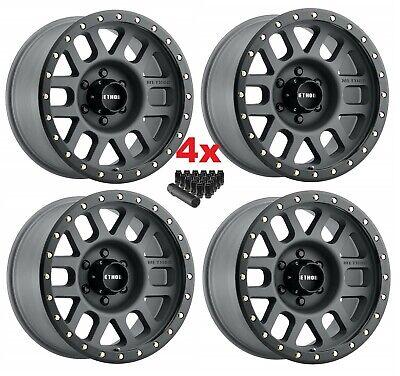 18 mm offset Method Race Wheels Grid Titanium//Black Street Loc Wheel with Zinc Plated Accent Bolts 18x9//8x180mm, +18mm offset