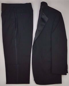 Wedding Size Bank formale A Lined Tuxedo Mens Lana Prom lungo 42L Prom nero Jos w4TFqWnSPw