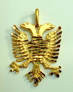 Brand new 14k yellow gold albanian eagle symbols charm pendant ebay image is loading brand new 14k yellow gold albanian eagle symbols aloadofball Gallery