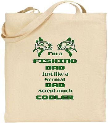 I'm A Fischen Vater groß Baumwolle Tragetasche Einkaufstasche Vatertag Angler