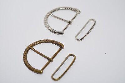 Bronze o Ritter Gürtelschnalle Schnalle mit Schlaufe ca 60 mm Breite Silber