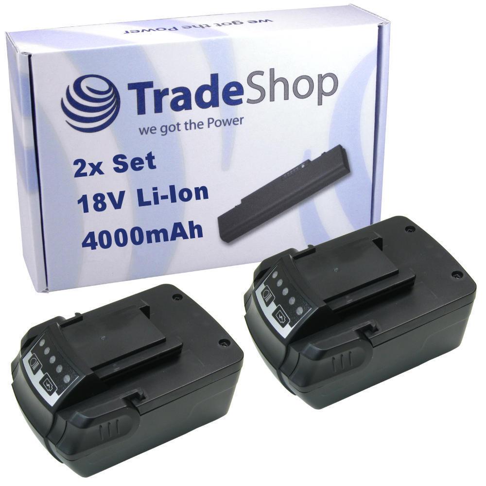 2x Trade-Shop Premium Akku Li-Ion 4000mAh 18V für Kress 180 AFB AFT ATBS APP APF