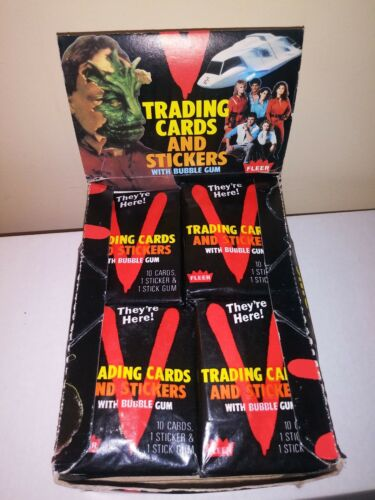 V TV Series Trading Card and Stickers Unopened Wax Pack Right Out Of Wax Box