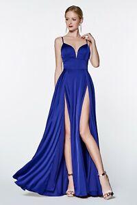 0908c6f4620 Cinderella Divine CJ526 Evening Dress Prom Dress A-line satin gown ...