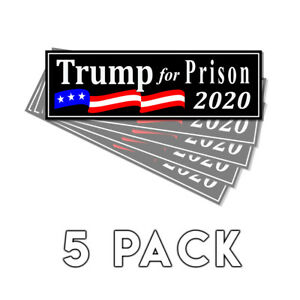 Trump-For-Prison-2020-Black-Decal-Sticker-2020-Decal-5-Pack-Trump-Never