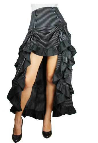 Gothic Burlesque Fishtail Steampunk Mermaid Vamp Lolita Waterfall Skirt NO 32