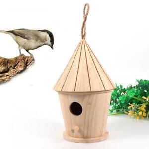 En-Bois-Maison-D-039-Oiseau-Nichoir-pendant-Gigognes-Nichoir-W-Crochet-Jardin-Decor