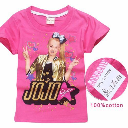 2018 New Cotton Girl JOJO SIWA Children Tops Clothing Kids Love Gifts T Shirts