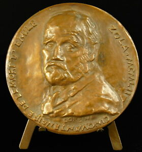 Medal-to-Emile-Zola-the-Rougon-Macquart-Mural-Romanesco-R-Corbin-1952-Medal
