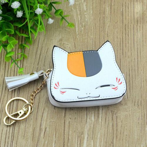 Natsume Yuujinchou  cat PU anime coin purse wallet small handbag bag new