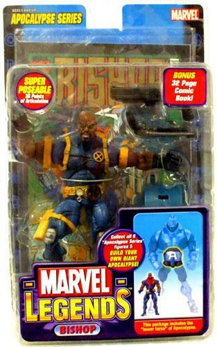 BISHOP   BALD VARIANT   MARVEL LEGENDS   APOCALYPSE   ACTION FIGURE + COMIC BOOK